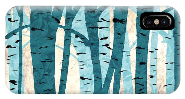 Turquoise Birch Trees IPhone Case