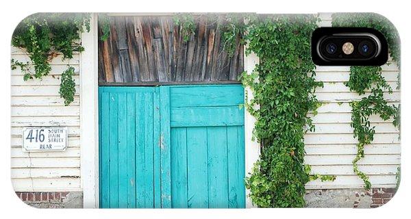 Turquoise Door Phone Case by Pamela Schreckengost