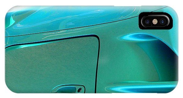 IPhone Case featuring the photograph Turquoise Exotic Art Lines by Jeff Lowe