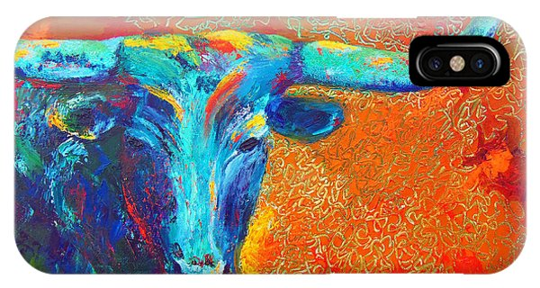 Turquoise Longhorn IPhone Case