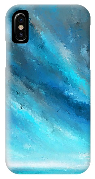 Turquoise Memories - Turquoise Abstract Art IPhone Case