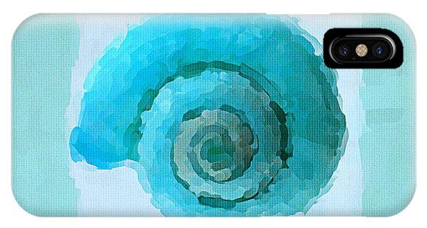 Laguna Beach iPhone Case - Turquoise Seashells IIi by Lourry Legarde