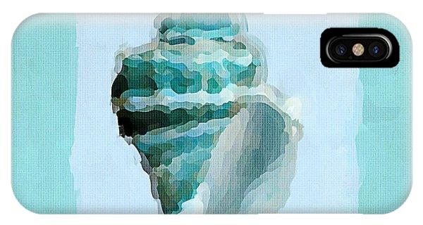 Laguna Beach iPhone Case - Turquoise Seashells Viii by Lourry Legarde