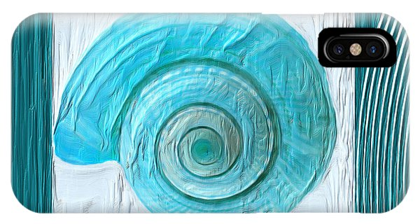 Shell Texture iPhone Case - Turquoise Seashells Xvii by Lourry Legarde