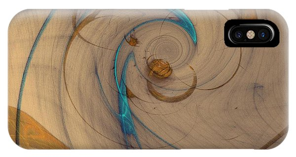 Turquoise Spiral IPhone Case