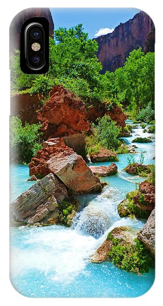 Turquoise Stream IPhone Case
