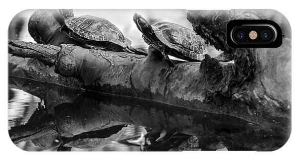 Turtle Bffs Bw By Denise Dube IPhone Case