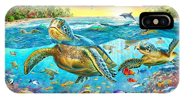 Reef Diving iPhone Case - Turtle Cove by MGL Meiklejohn Graphics Licensing