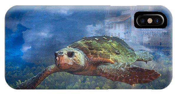 Turtle In Atlantis IPhone Case