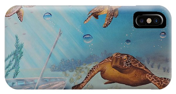Turtles At Sea IPhone Case