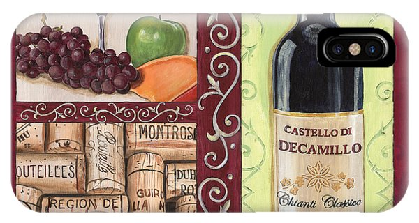 Green Grape iPhone Case - Tuscan Collage 2 by Debbie DeWitt