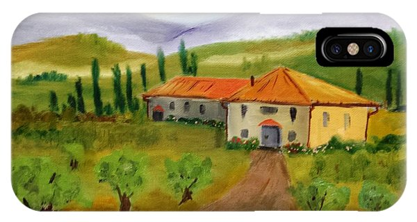 Tuscan Cottage IPhone Case