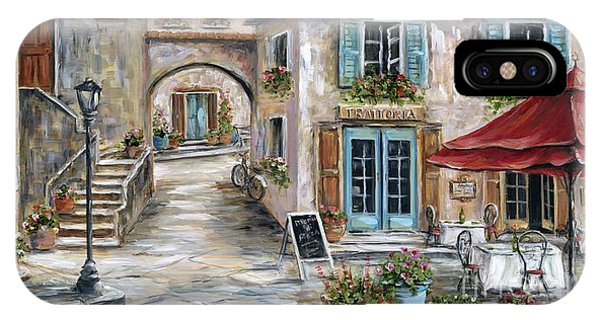 Cafe iPhone Case - Tuscan Street Scene by Marilyn Dunlap