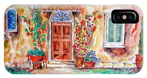 Tuscan Villa Door Water Color IPhone Case