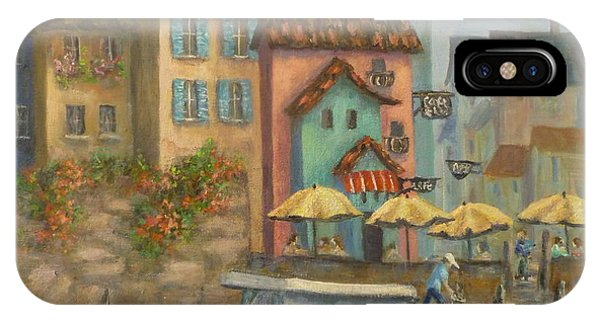 Tuscan Village Boat Paintings IPhone Case