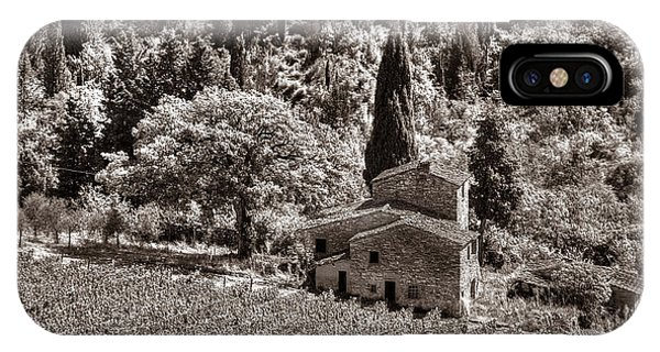 IPhone Case featuring the photograph Tuscan Vinyard by Michael Kirk