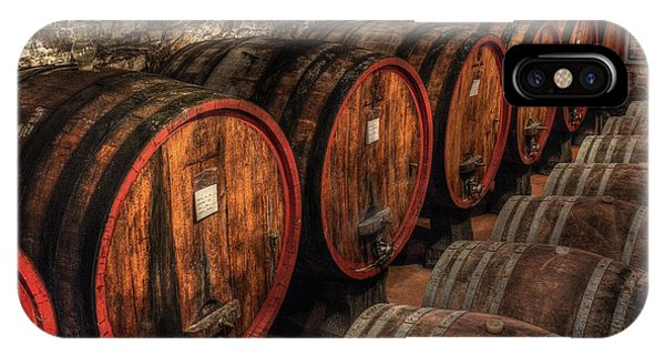 IPhone Case featuring the photograph Tuscan Wine Cellar by Michael Kirk