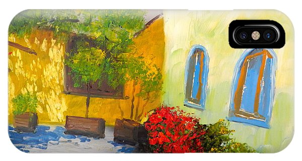 Tuscany Courtyard 2 IPhone Case