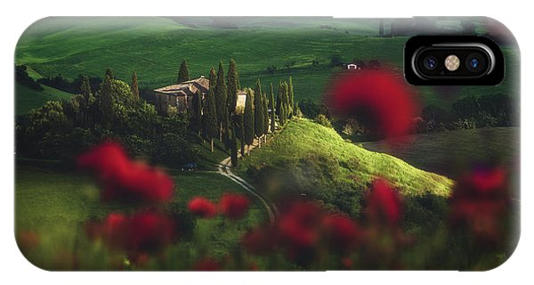 Cypress iPhone Case - Tuscany - Spring Blossoms by Jean Claude Castor