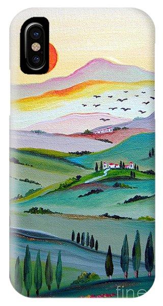 Tuscany Sunset IPhone Case