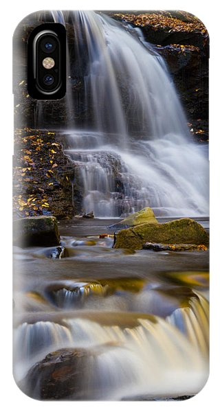 Tuscarora Falls At Ricketts Glen In Autumn IPhone Case