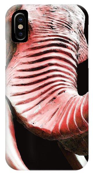 Alabama iPhone Case - Tusk 4 - Red Elephant Art by Sharon Cummings