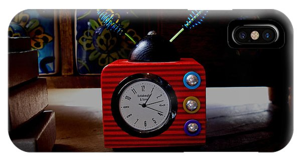 Tv Clock IPhone Case