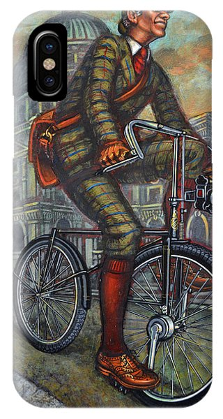 Bob On His Bantam St Pauls London IPhone Case