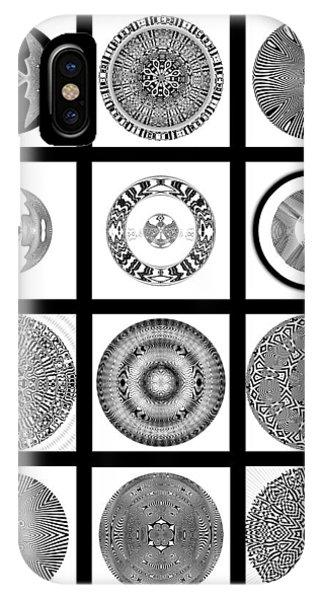 IPhone Case featuring the digital art Twelve by Visual Artist Frank Bonilla