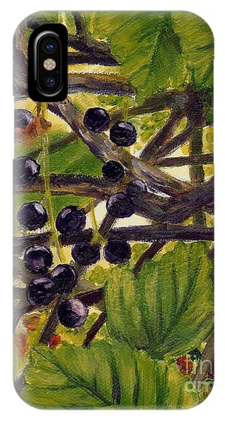 Twigs Leaves And Wild Berries IPhone Case