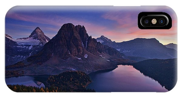 Twilight iPhone Case - Twilight At Mount Assiniboine by Yan Zhang