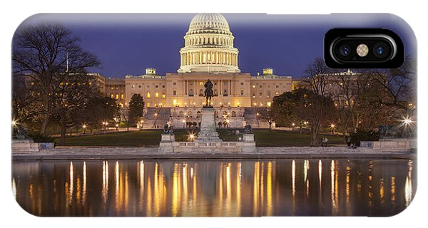 IPhone Case featuring the photograph Twilight At Us Capitol by Brian Jannsen