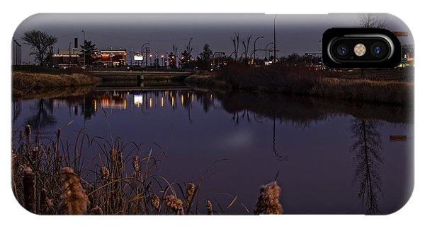 iPhone Case - Twilight Over The River In Weyburn. by Viktor Birkus