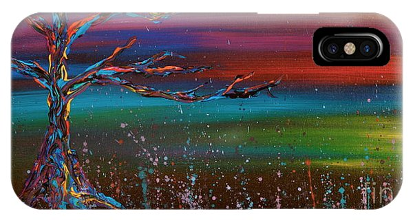 IPhone Case featuring the painting Twilight Sun by Jacqueline Athmann