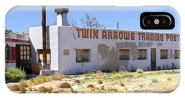 Gas Station iPhone Case - Twin Arrows Trading Post by Mike McGlothlen