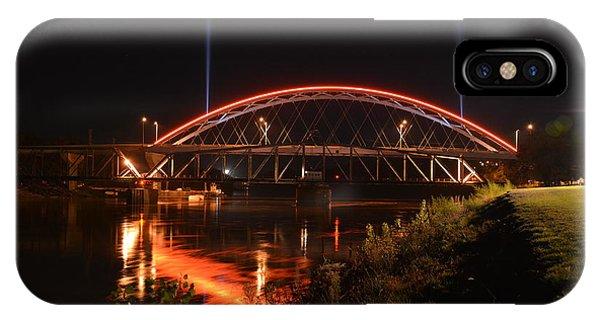 Twin Bridges At Night IPhone Case