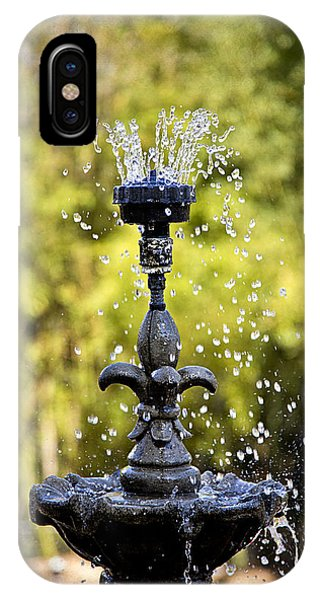 Twin Oaks Garden Fountain IPhone Case