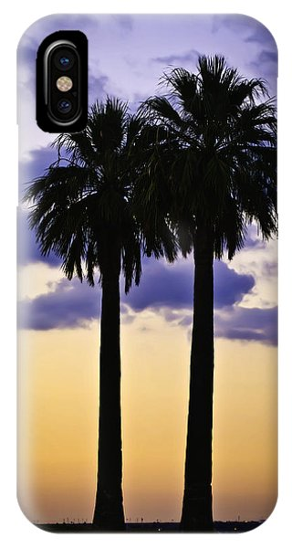 IPhone Case featuring the photograph Twin Palms by Sherri Meyer