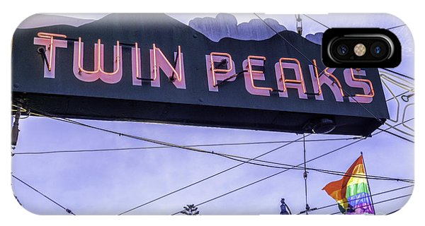 Gay Pride Flag iPhone Case - Twin Peaks Tavern by Jerry Fornarotto