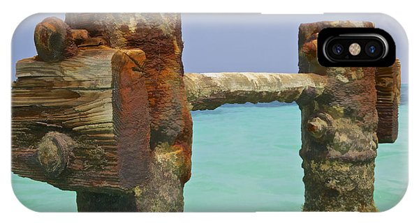 Twin Rusted Dock Piers Of The Caribbean IPhone Case