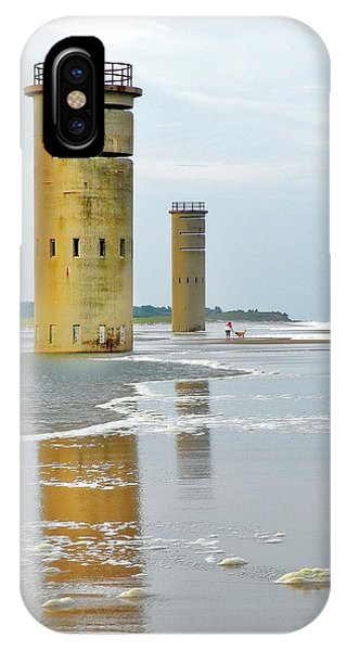 Twin Towers At Whiskey Beach IPhone Case