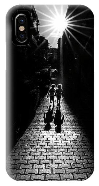 Alley iPhone Case - Twins by Yasemin Bakan