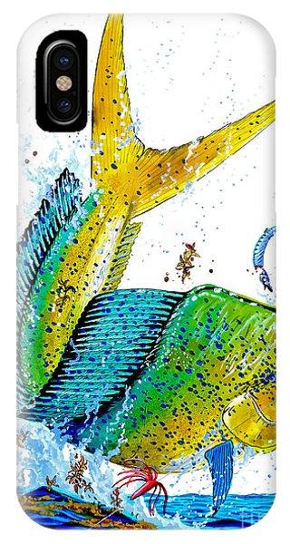 Skipjack iPhone Case - Twisted Mahi by Carey Chen