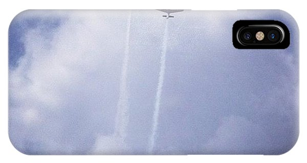 Sky iPhone Case - Two Airplanes Flying by Christy Beckwith