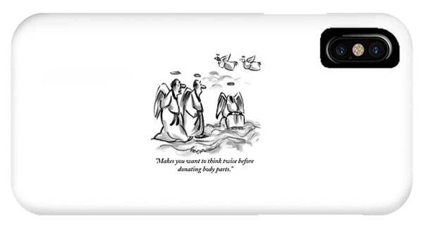Two Angels Discuss A Third Headless Angel IPhone Case