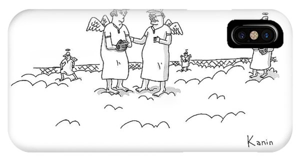 Angels iPhone Case - Two Angels Speak To Each Other In A Baseball by Zachary Kanin