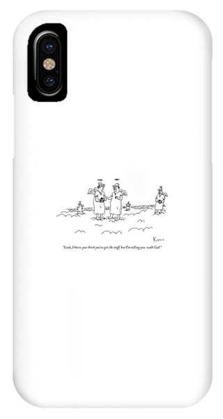 Two Angels Speak To Each Other In A Baseball IPhone Case