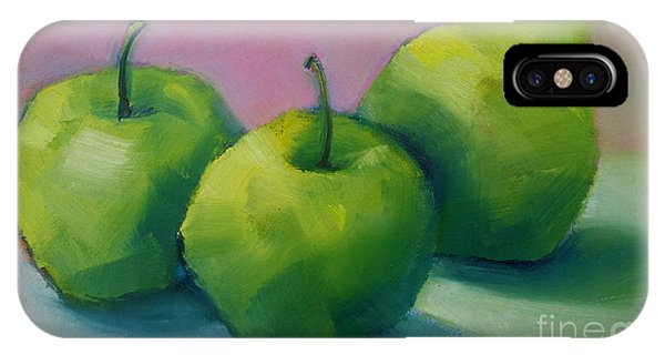 Two Apples And One Pear IPhone Case