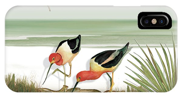 Two Avocets IPhone Case