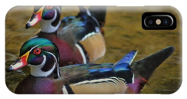 Wood Ducks iPhone Case - Two Beauties by Deborah Benoit